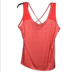 COLUMBIA Whispering Lakes red tank top